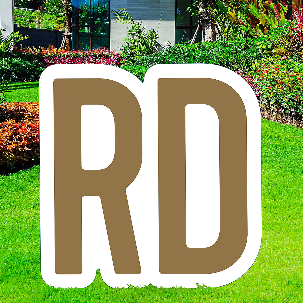 Giant Gold Corrugated Plastic Ordinal Indicator (RD) Yard Sign, 15in Image #1