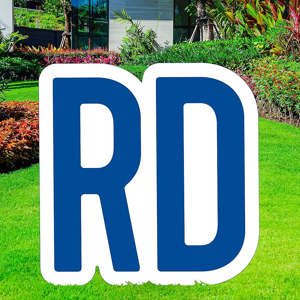 Giant Royal Blue Corrugated Plastic Ordinal Indicator (RD) Yard Sign, 15in Image #1