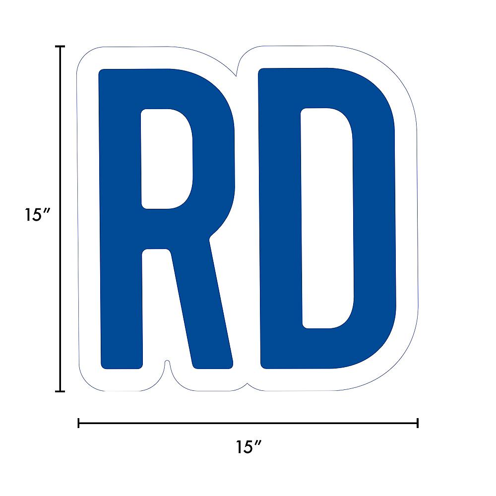 Giant Royal Blue Corrugated Plastic Ordinal Indicator (RD) Yard Sign, 15in Image #2