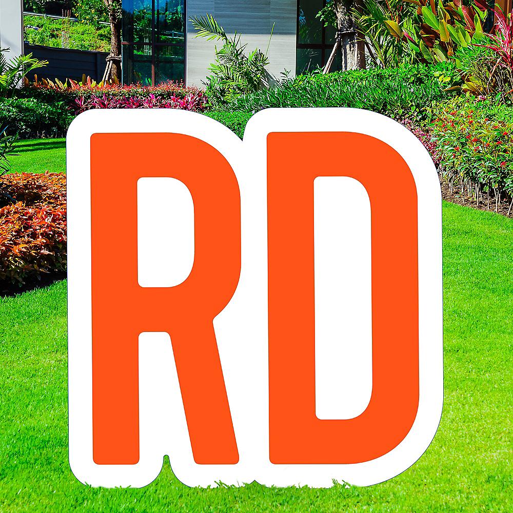 Giant Orange Corrugated Plastic Ordinal Indicator (RD) Yard Sign, 15in Image #1