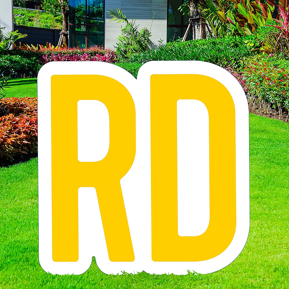 Giant Yellow Corrugated Plastic Ordinal Indicator (RD) Yard Sign, 15in Image #1