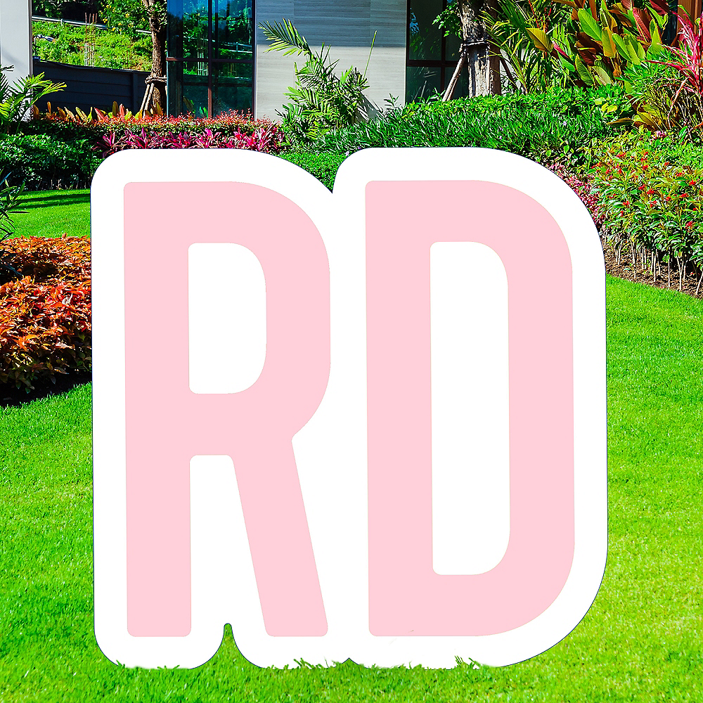 Giant Blush Pink Corrugated Plastic Ordinal Indicator (RD) Yard Sign, 15in Image #1