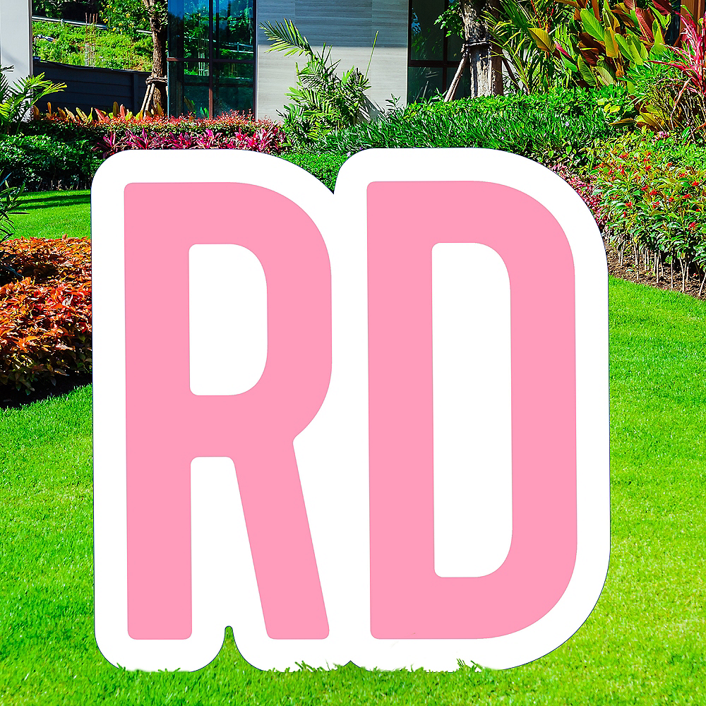 Giant Pink Corrugated Plastic Ordinal Indicator (RD) Yard Sign, 15in Image #1