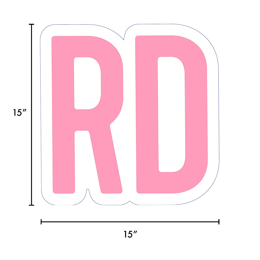 Giant Pink Corrugated Plastic Ordinal Indicator (RD) Yard Sign, 15in Image #2