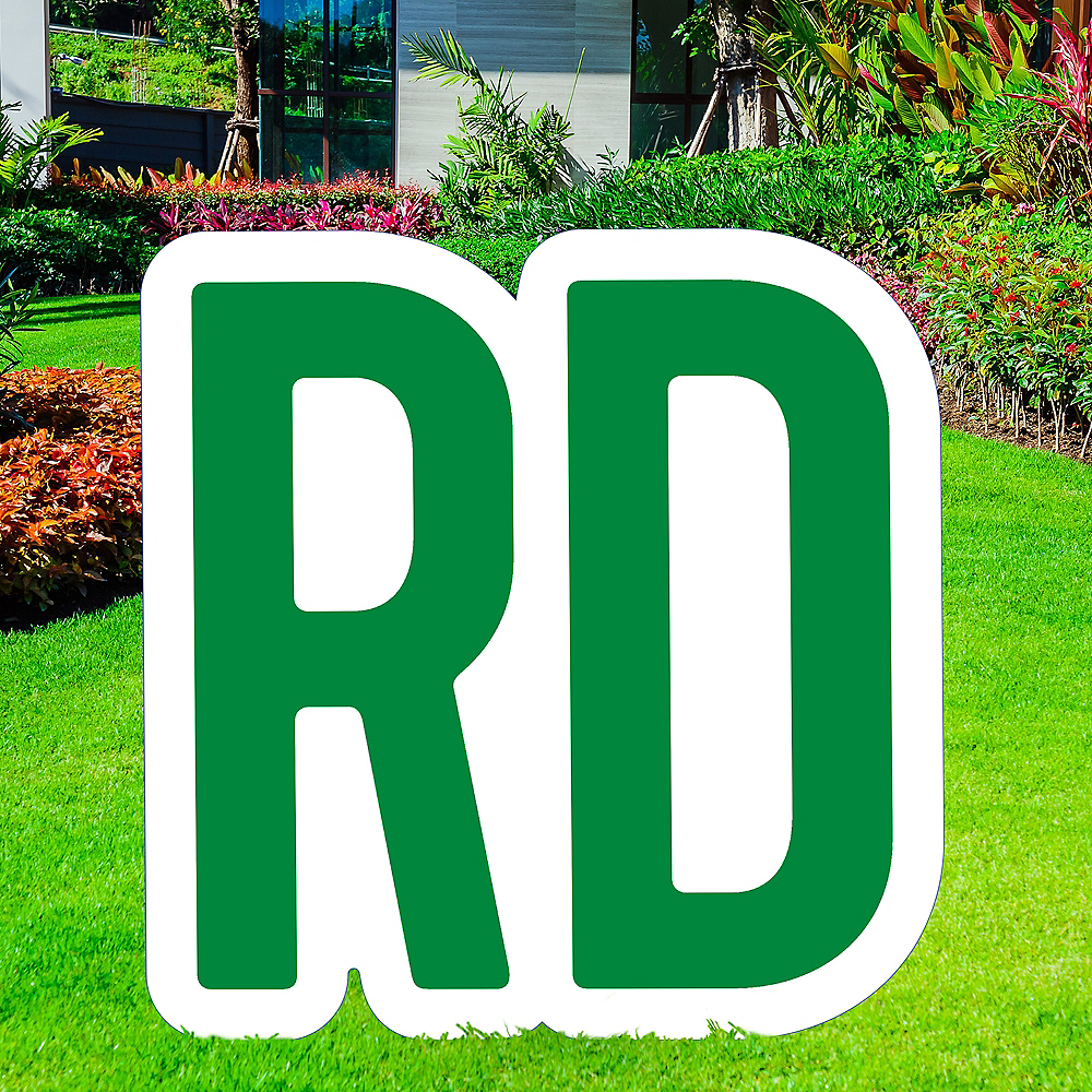 Giant Festive Green Corrugated Plastic Ordinal Indicator (RD) Yard Sign, 15in Image #1