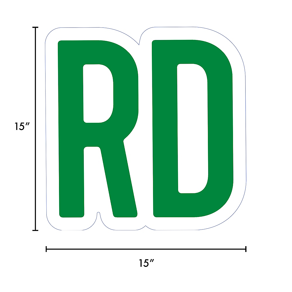 Giant Festive Green Corrugated Plastic Ordinal Indicator (RD) Yard Sign, 15in Image #2