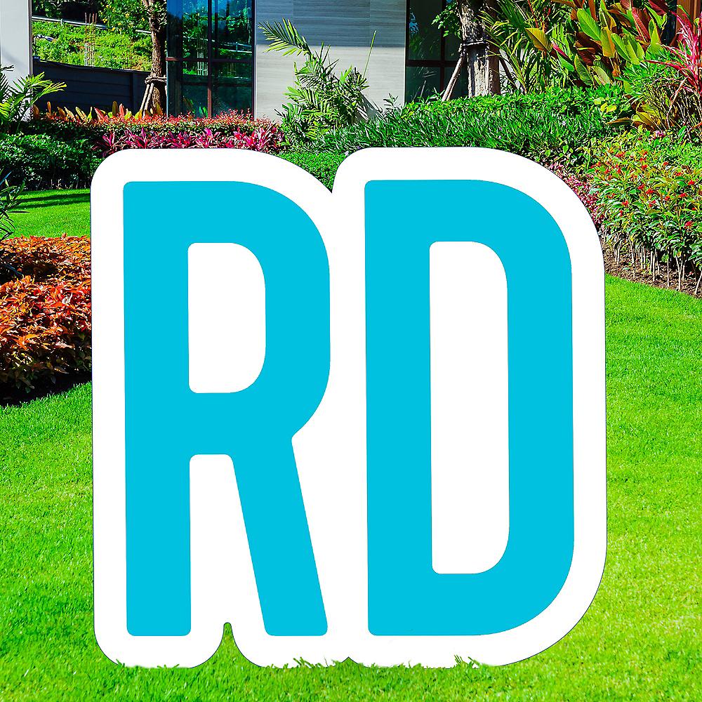Giant Caribbean Blue Corrugated Plastic Ordinal Indicator (RD) Yard Sign, 15in Image #1