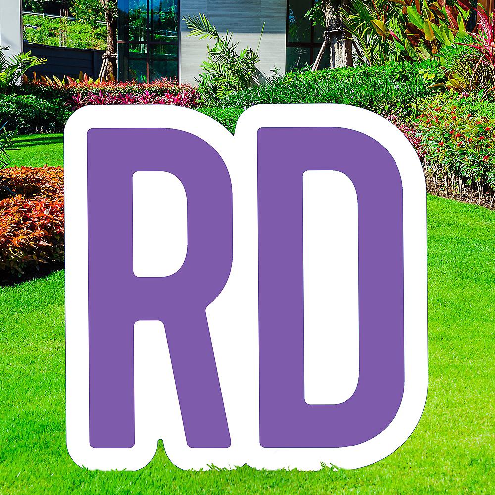 Giant Purple Corrugated Plastic Ordinal Indicator (RD) Yard Sign, 15in Image #1