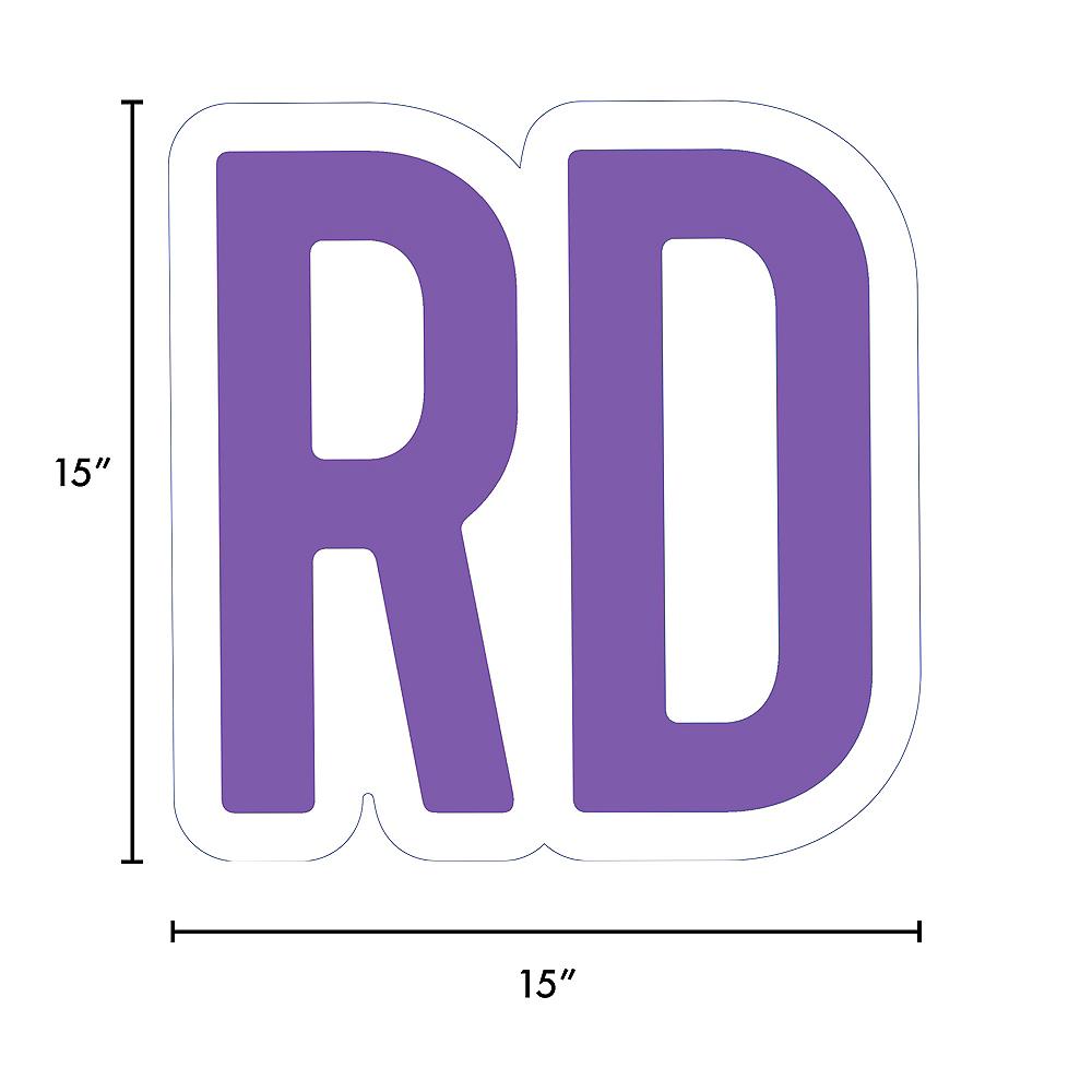 Giant Purple Corrugated Plastic Ordinal Indicator (RD) Yard Sign, 15in Image #2