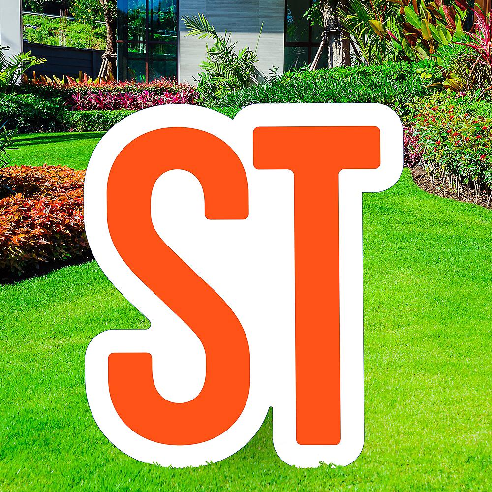 Giant Orange Corrugated Plastic Ordinal Indicator (ST) Yard Sign, 15in Image #1