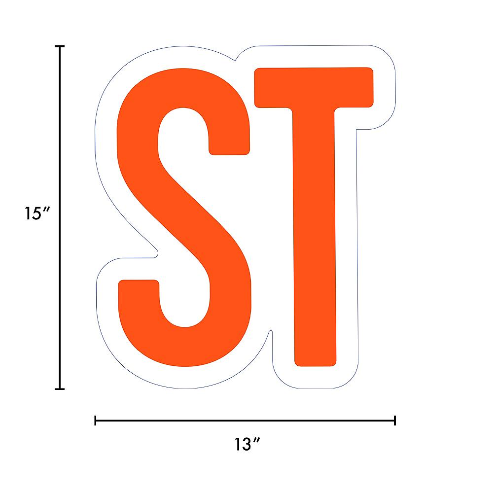 Giant Orange Corrugated Plastic Ordinal Indicator (ST) Yard Sign, 15in Image #2