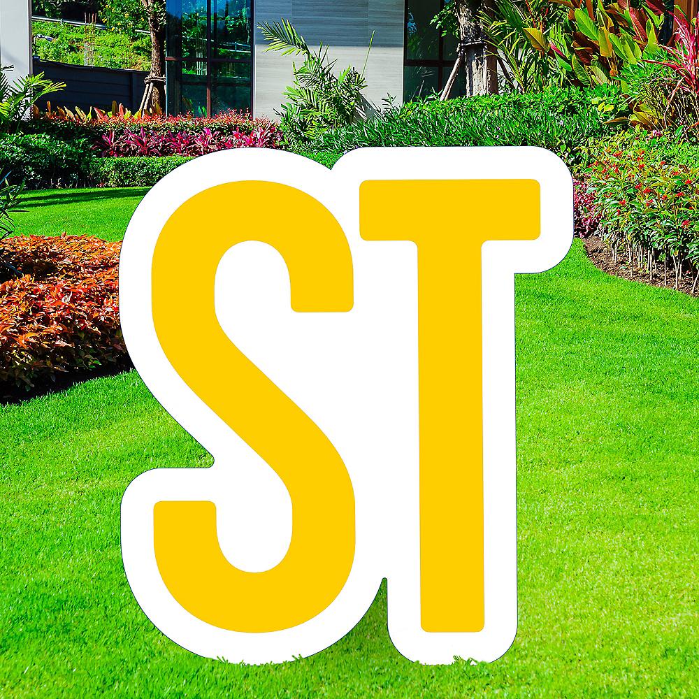 Giant Yellow Corrugated Plastic Ordinal Indicator (ST) Yard Sign, 15in Image #1