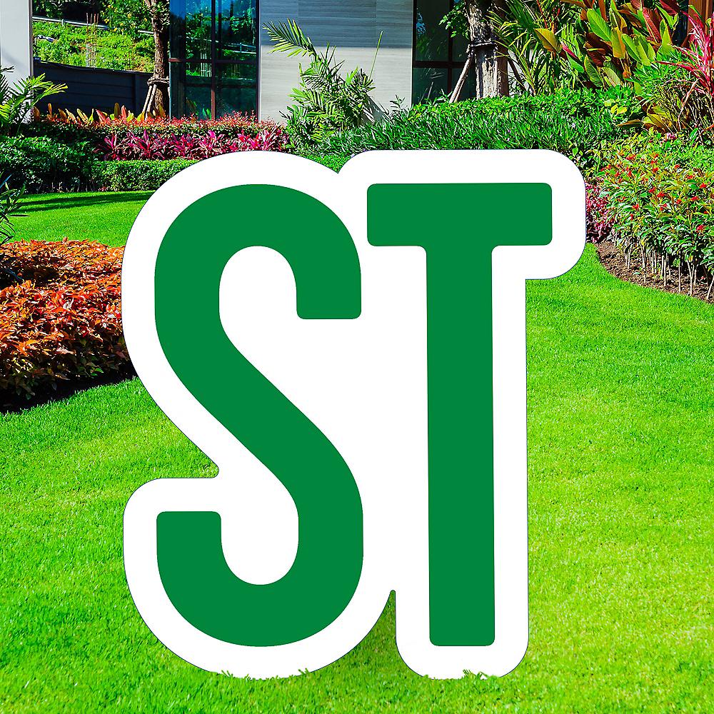 Giant Festive Green Corrugated Plastic Ordinal Indicator (ST) Yard Sign, 15in Image #1