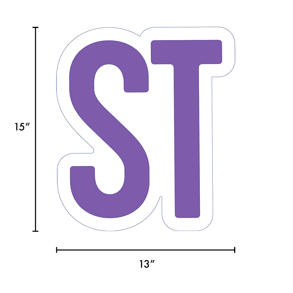 Giant Purple Corrugated Plastic Ordinal Indicator (ST) Yard Sign, 15in Image #2