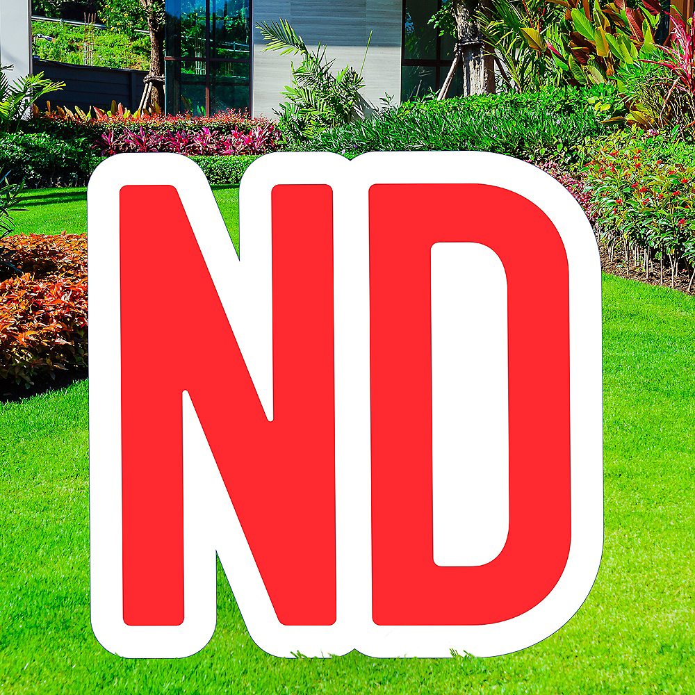 Giant Red Corrugated Plastic Ordinal Indicator (ND) Yard Sign, 15in Image #1