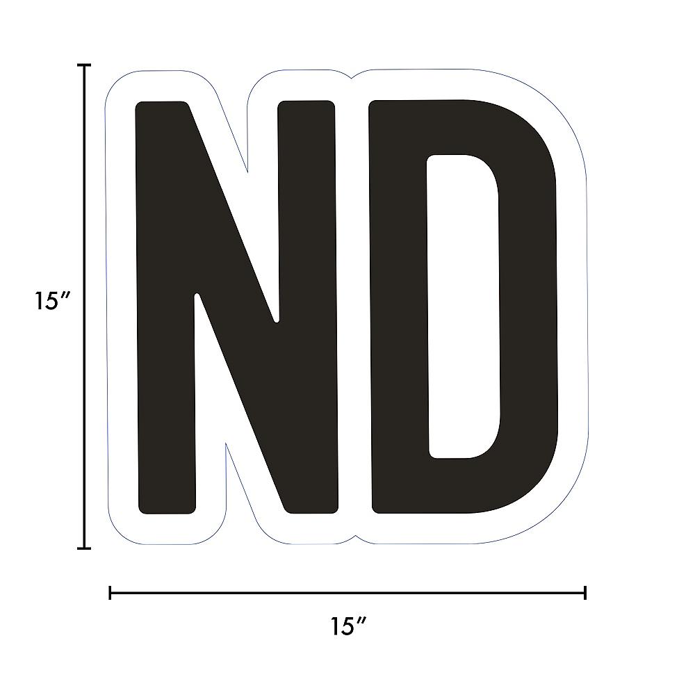 Giant Black Corrugated Plastic Ordinal Indicator (ND) Yard Sign, 15in Image #2