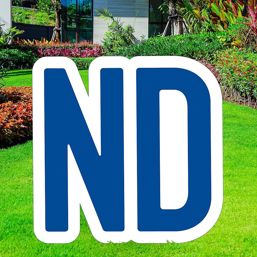 Giant Royal Blue Corrugated Plastic Ordinal Indicator (ND) Yard Sign, 15in Image #1
