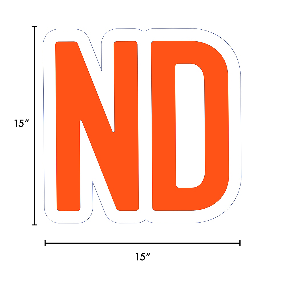 Giant Orange Corrugated Plastic Ordinal Indicator (ND) Yard Sign, 15in Image #2