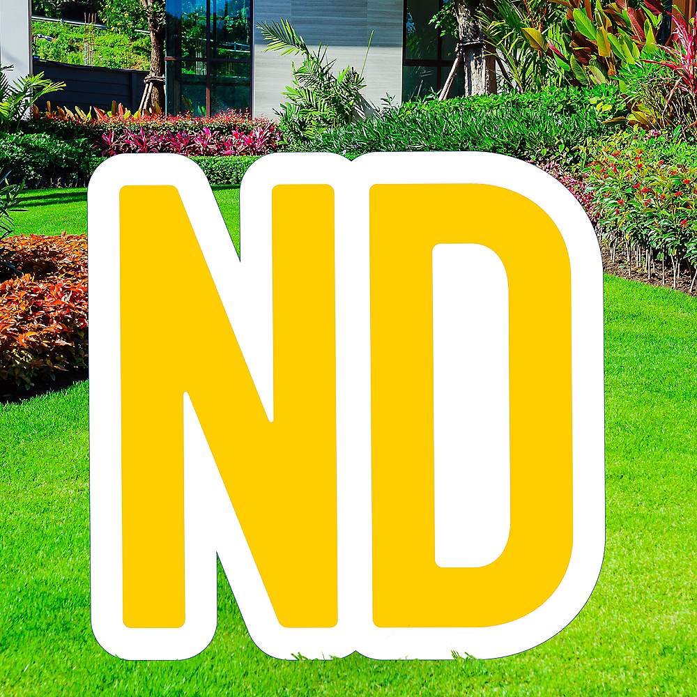 Giant Yellow Corrugated Plastic Ordinal Indicator (ND) Yard Sign, 15in Image #1