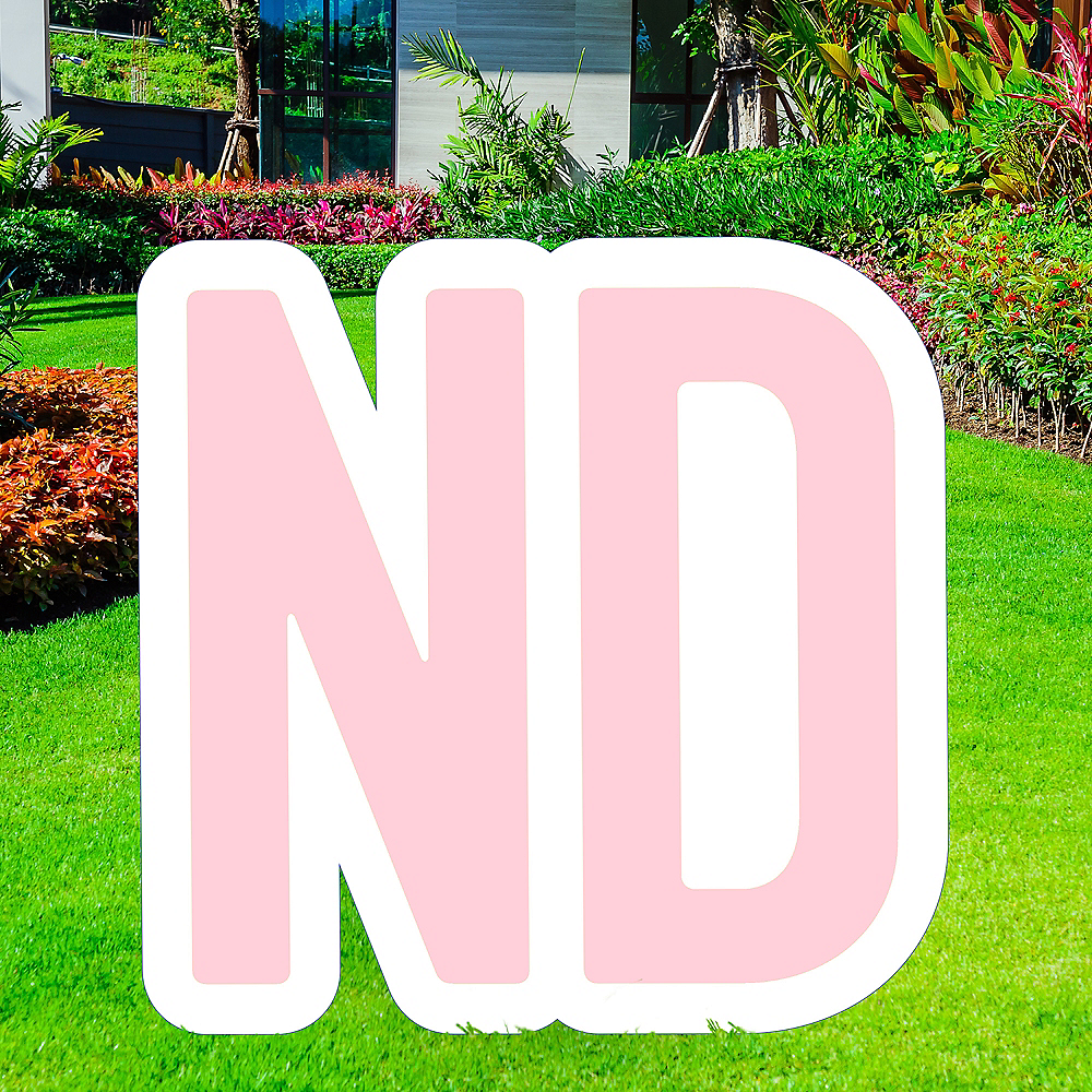 Giant Blush Pink Corrugated Plastic Ordinal Indicator (ND) Yard Sign, 15in Image #1