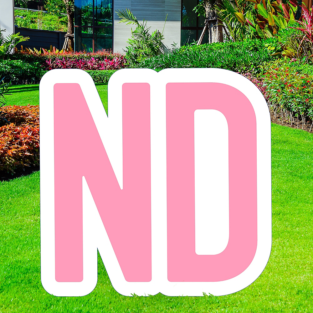 Giant Pink Corrugated Plastic Ordinal Indicator (ND) Yard Sign, 15in Image #1