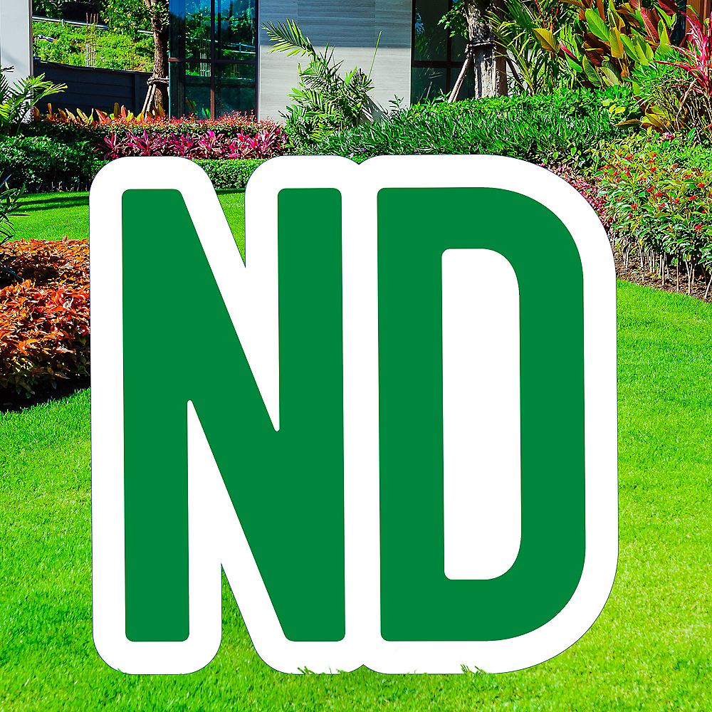 Giant Festive Green Corrugated Plastic Ordinal Indicator (ND) Yard Sign, 15in Image #1