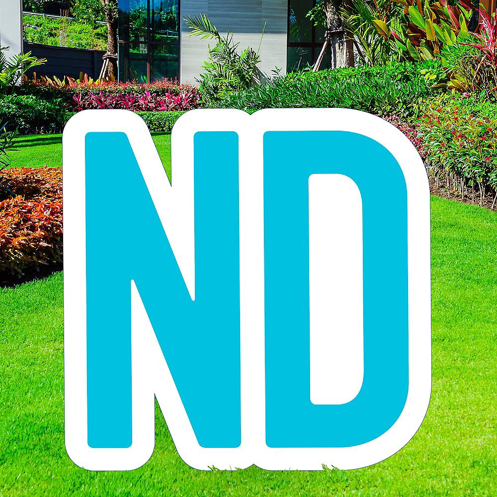 Giant Caribbean Blue Corrugated Plastic Ordinal Indicator (ND) Yard Sign, 15in Image #1