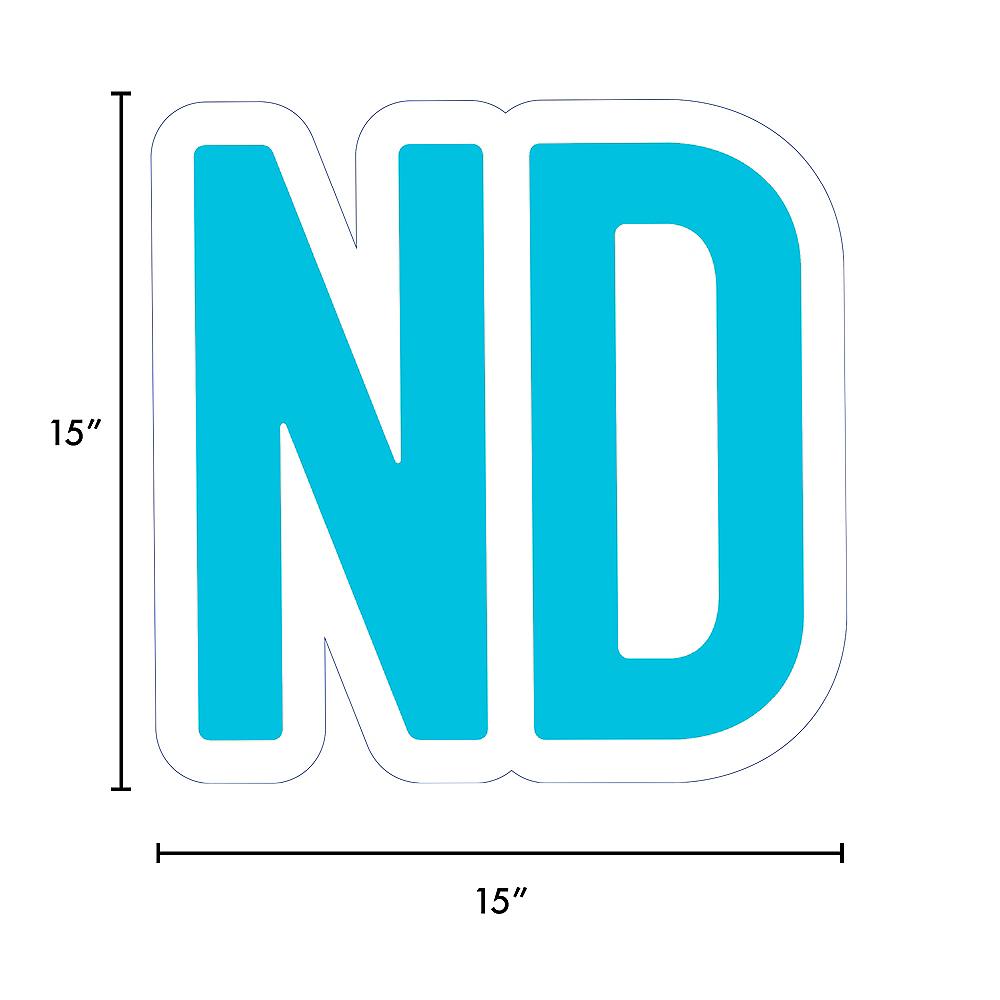 Giant Caribbean Blue Corrugated Plastic Ordinal Indicator (ND) Yard Sign, 15in Image #2