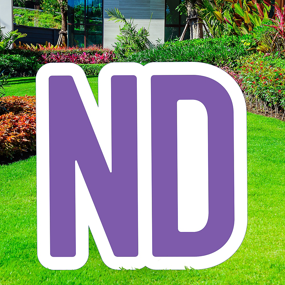 Giant Purple Corrugated Plastic Ordinal Indicator (ND) Yard Sign, 15in Image #1