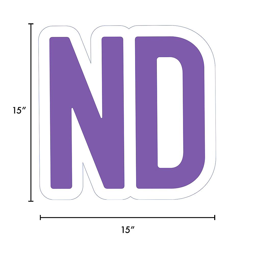 Giant Purple Corrugated Plastic Ordinal Indicator (ND) Yard Sign, 15in Image #2