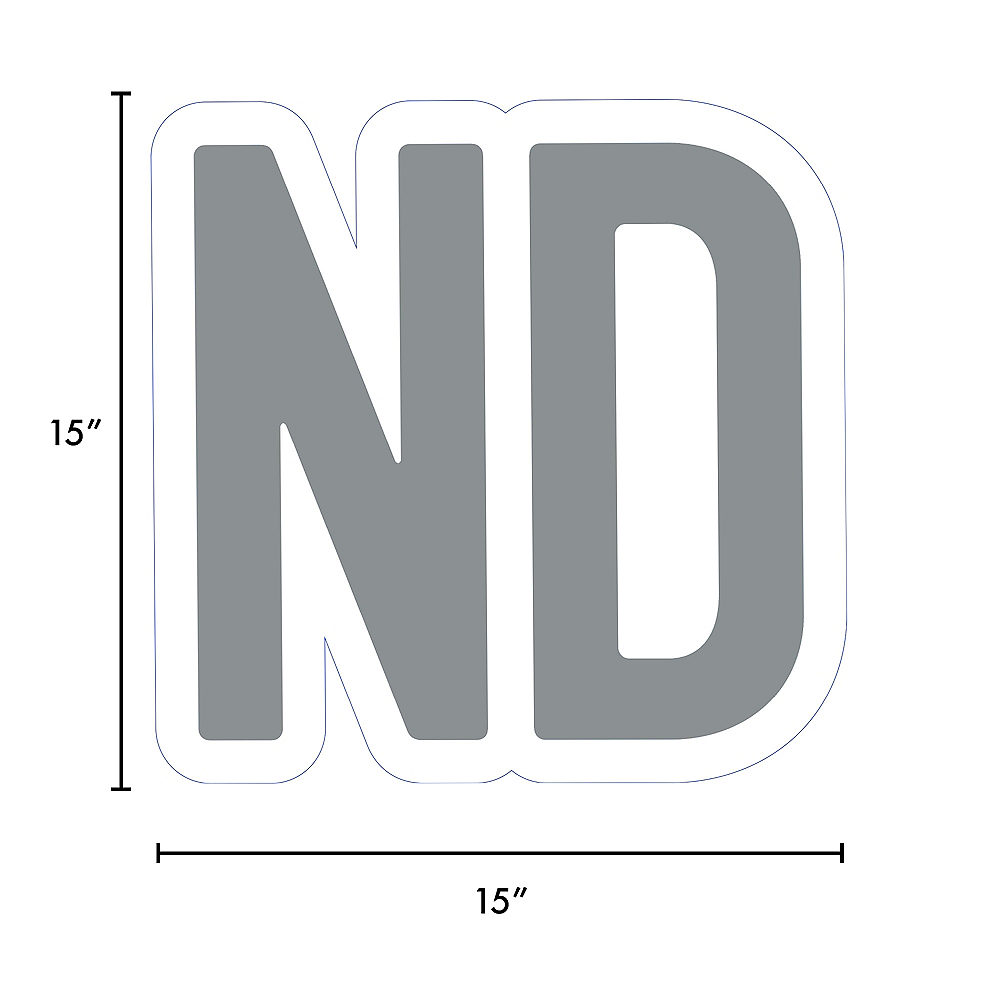 Giant Silver Corrugated Plastic Ordinal Indicator (ND) Yard Sign, 15in Image #2
