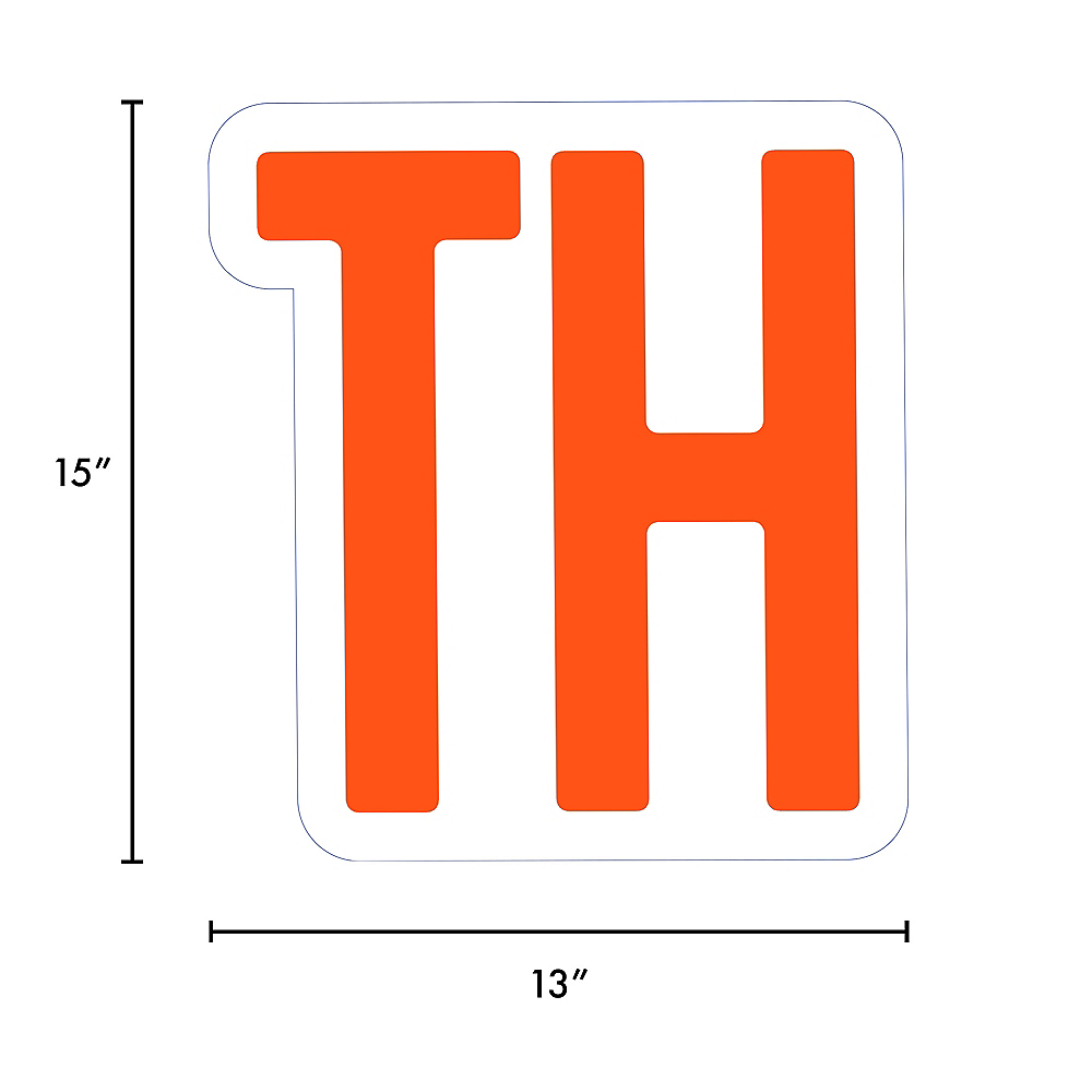 Nav Item for Giant Orange Corrugated Plastic Ordinal Indicator (TH) Yard Sign, 15in Image #2