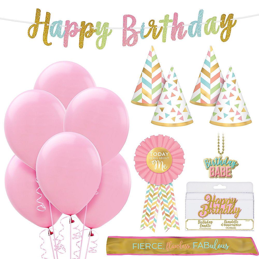 Pretty in Pink Birthday Party Kit Image #1