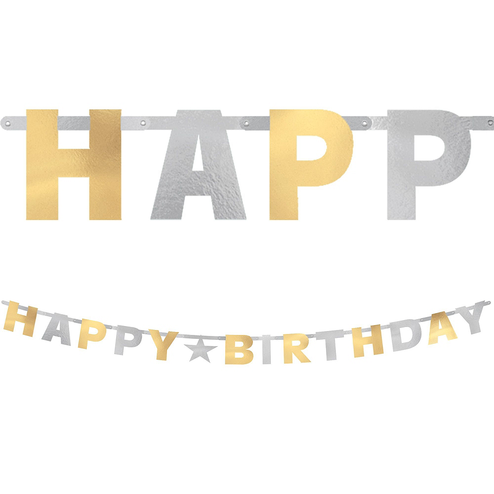 Gold & Silver Birthday Party Kit Image #8