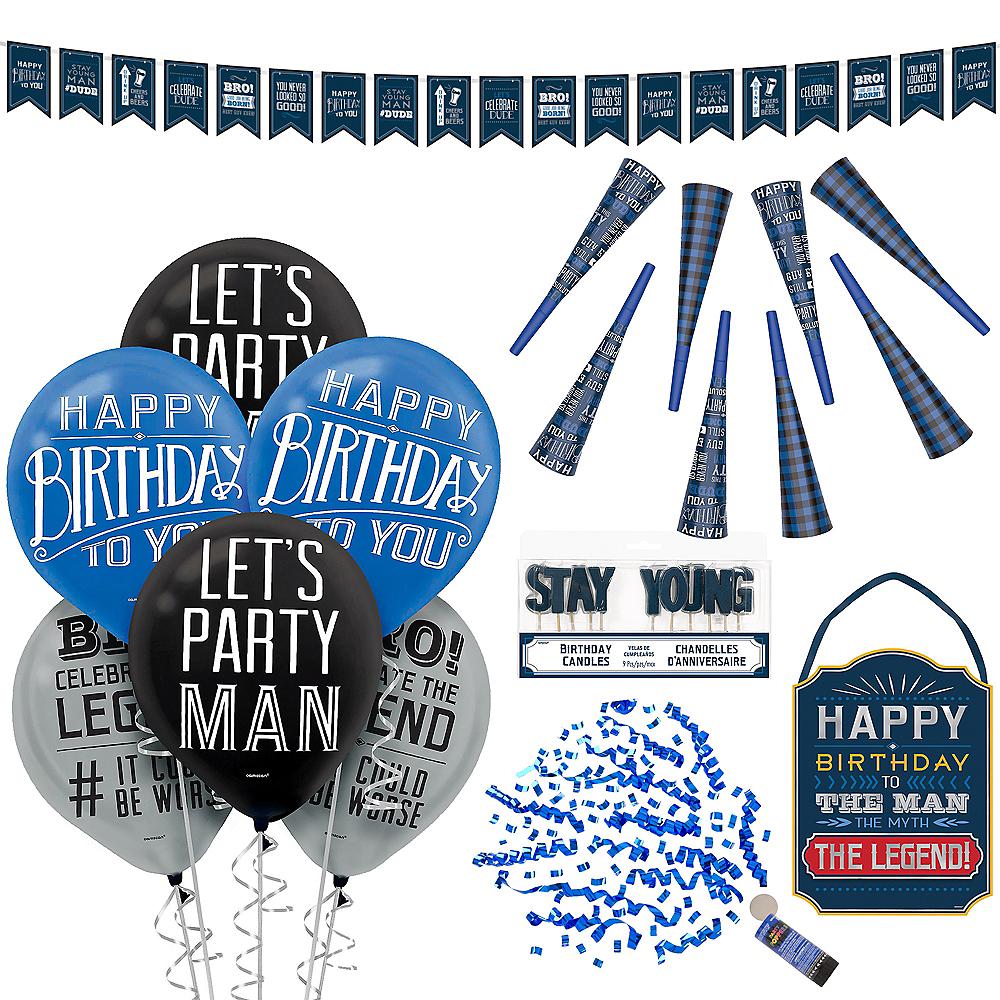 Vintage Happy Birthday Party Kit Image #1