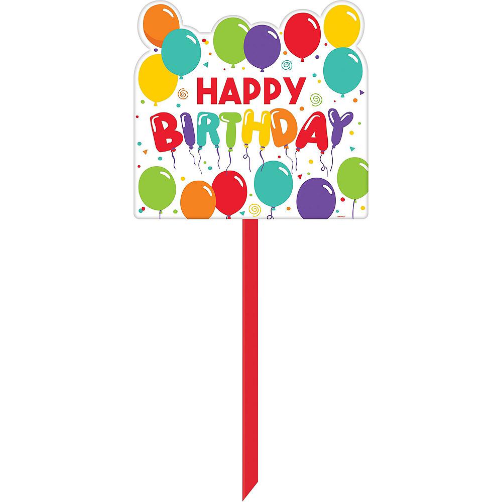 Multicolor Front Yard Birthday Balloon Display Kit Image #6