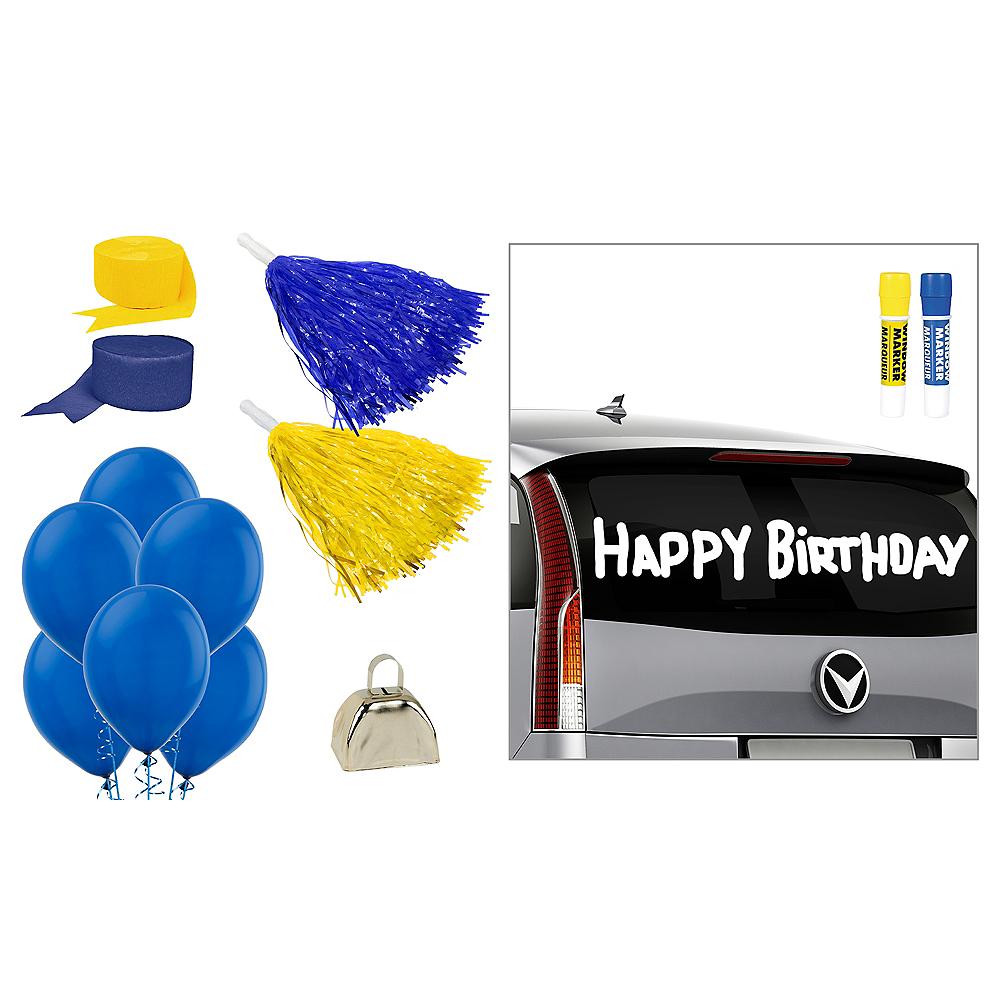 Blue & Yellow Car Decorating Kit Image #1