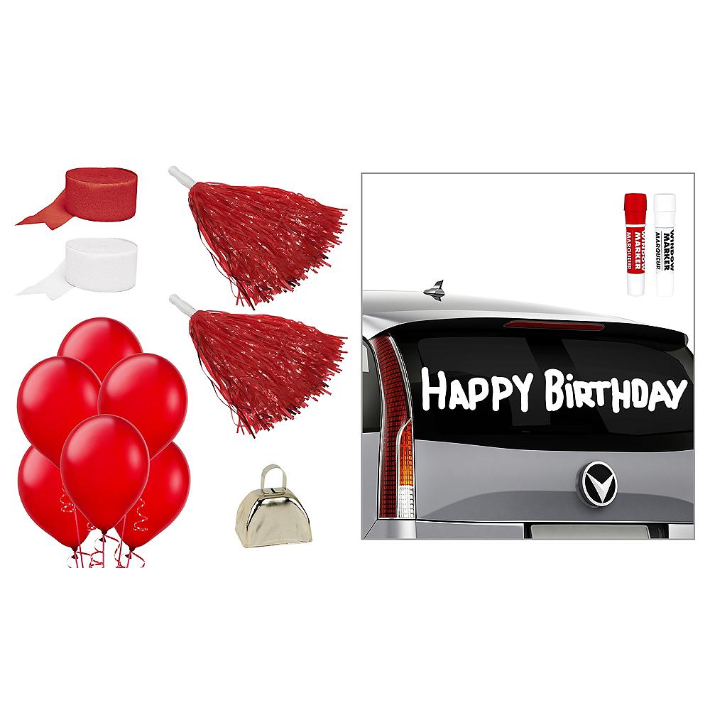 Red & White Car Decorating Kit Image #1