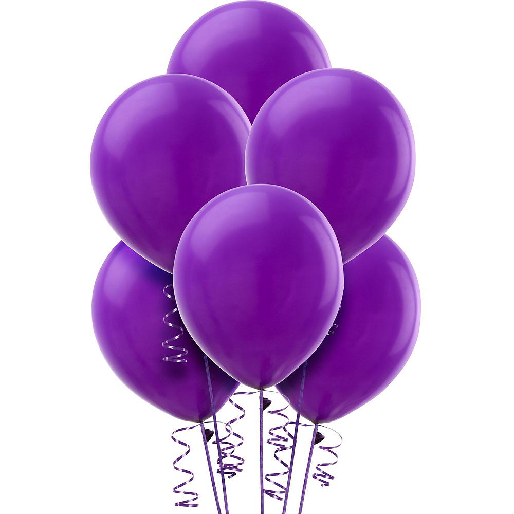 Purple & White Car Decorating Kit Image #2