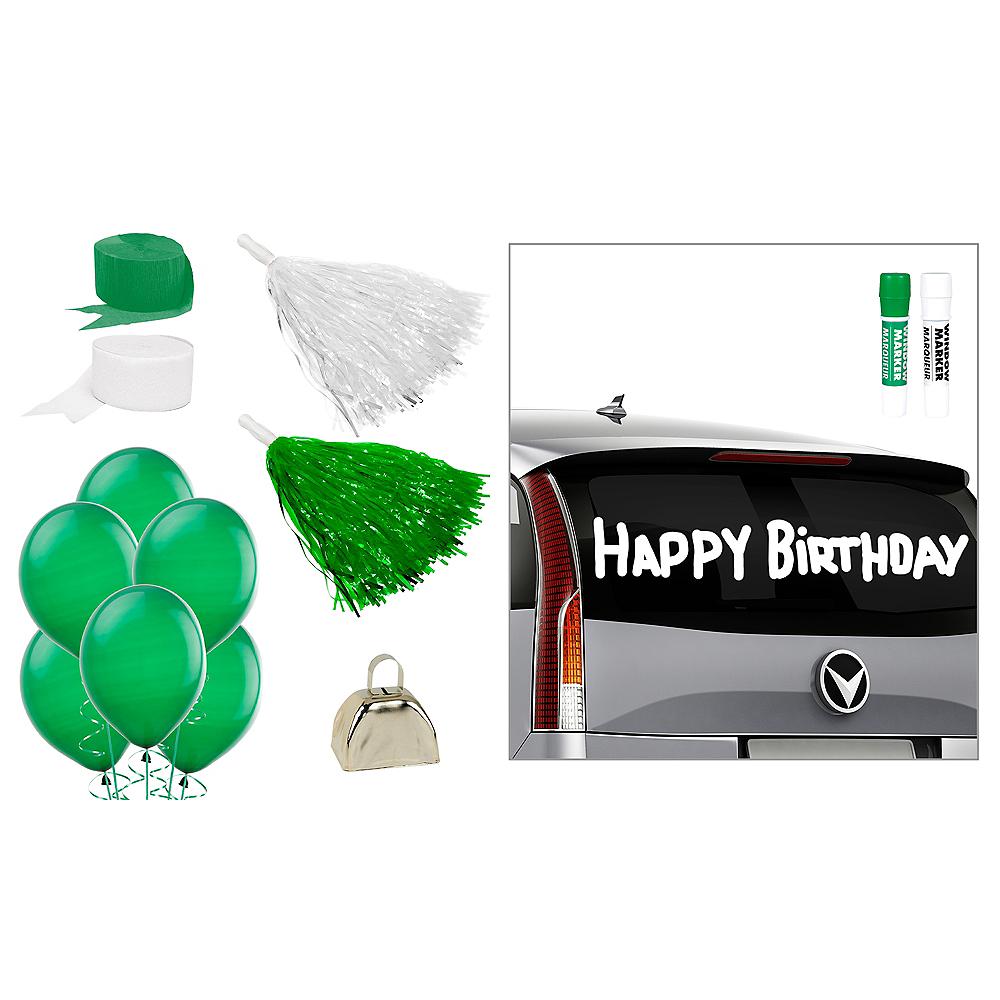 Green & White Car Decorating Kit Image #1