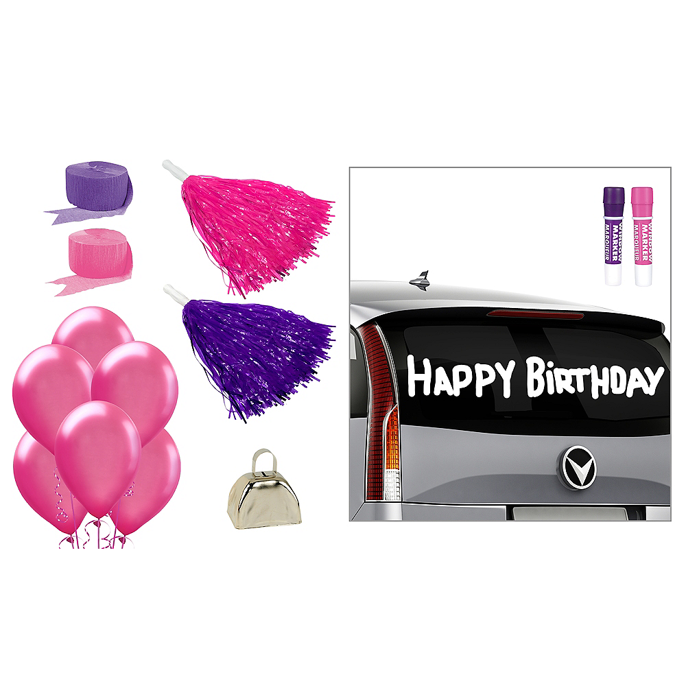 Pink & Purple Car Decorating Kit Image #1