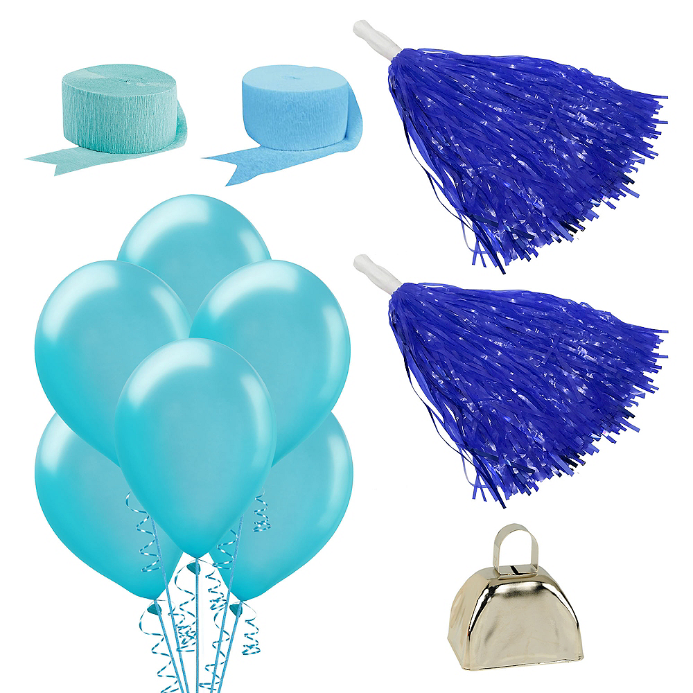 Shades of Blue Car Decorating Kit Image #1