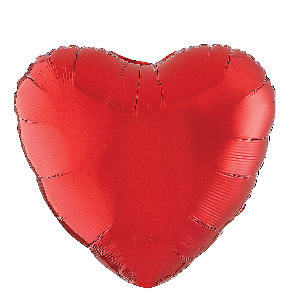 Abundant Love Red Heart Balloon Bouquet, 17in, 12pc with Helium Tank Image #2