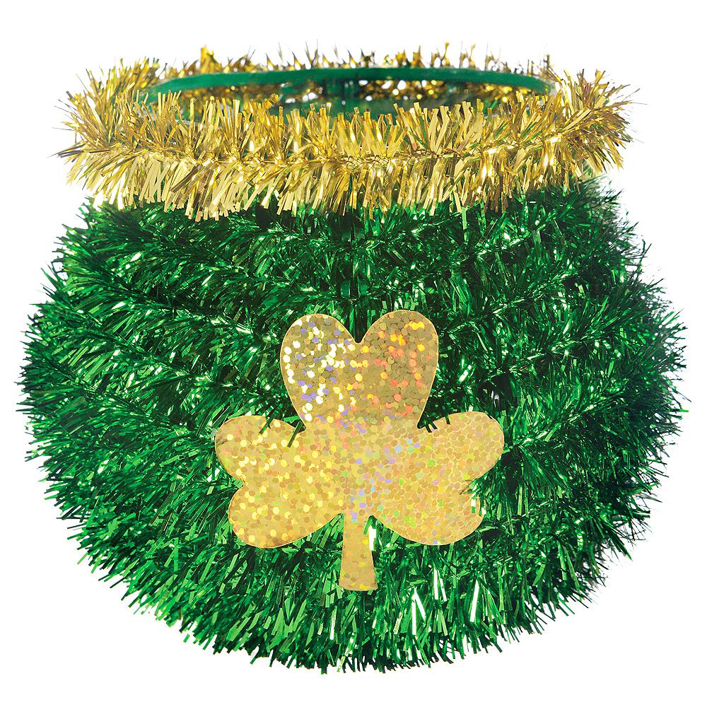 3D Mini Green & Gold St. Patrick's Day Cauldron Image #1