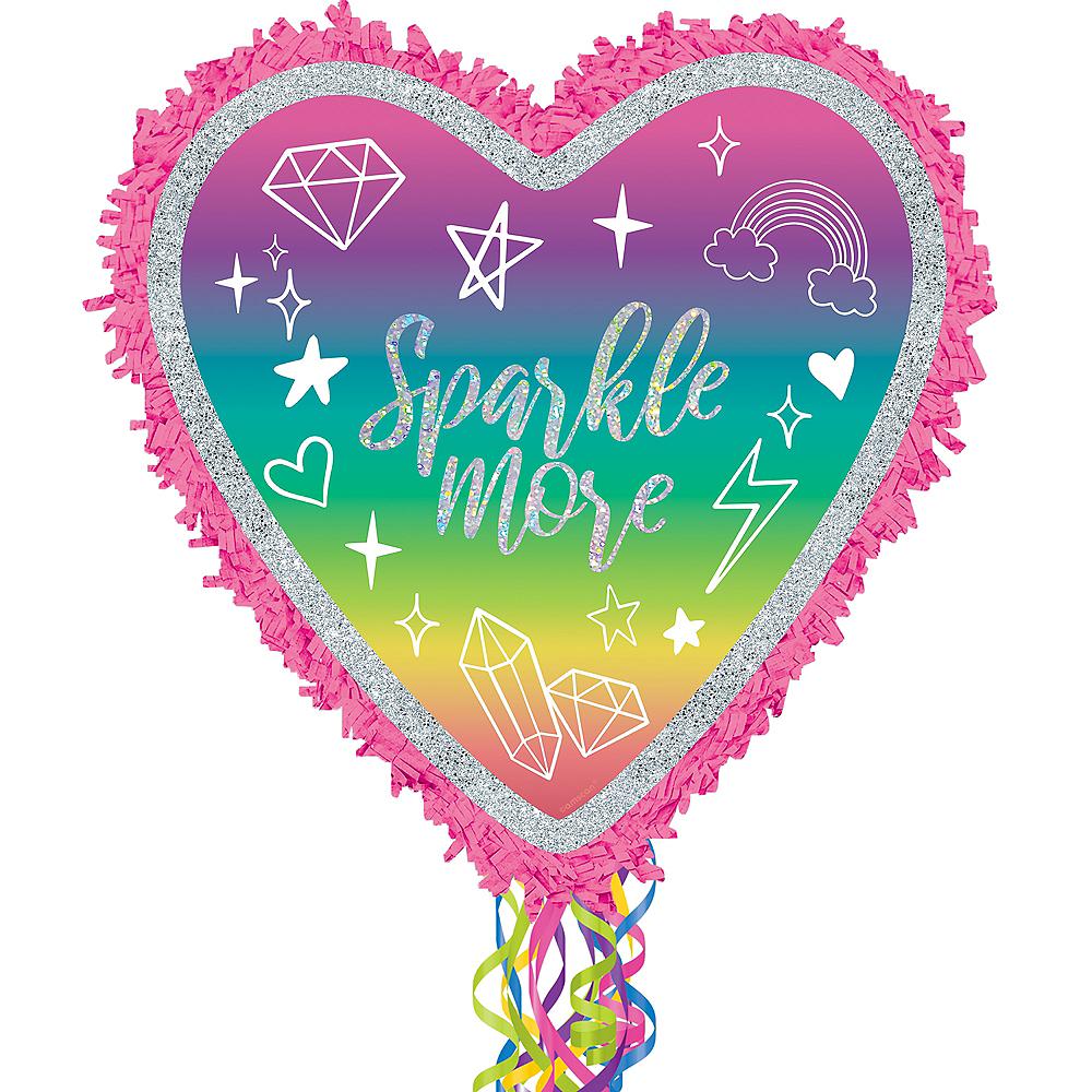 Glitter Pull String Sparkle Pinata Image #1