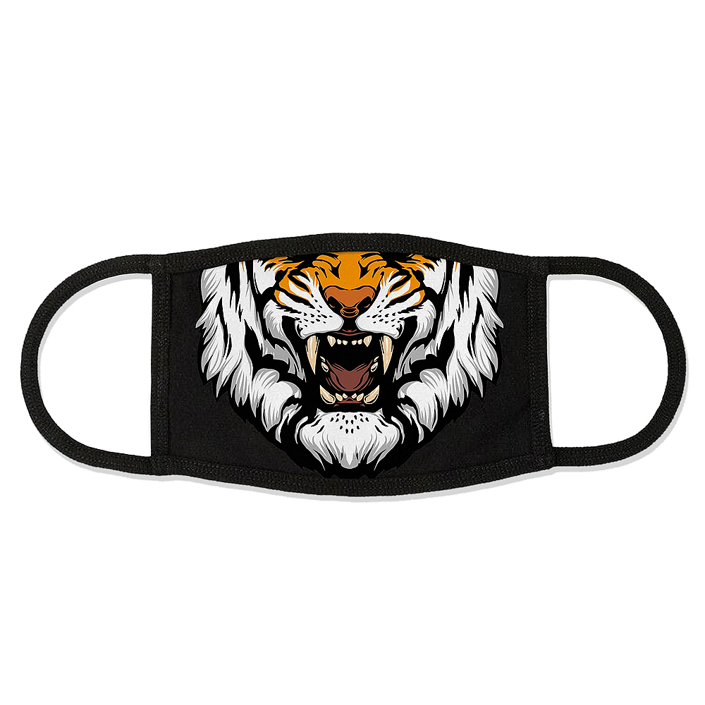 Adult Tiger Face Mask Image #1