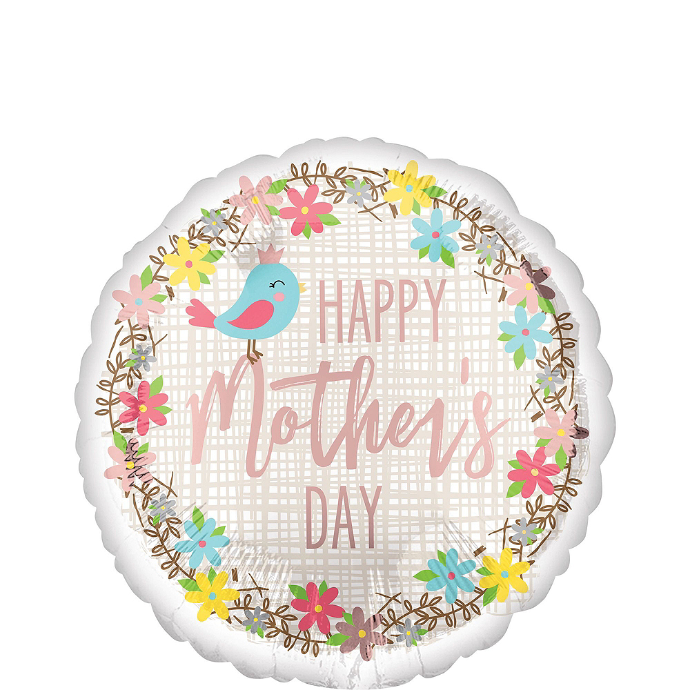 Birds & Flowers Mother's Day Balloon Bouquet, 9pc, with Helium Tank Image #4