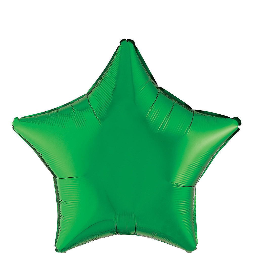 Green Star Balloon Bouquet, 19in, 12pc, with Helium Tank Image #2