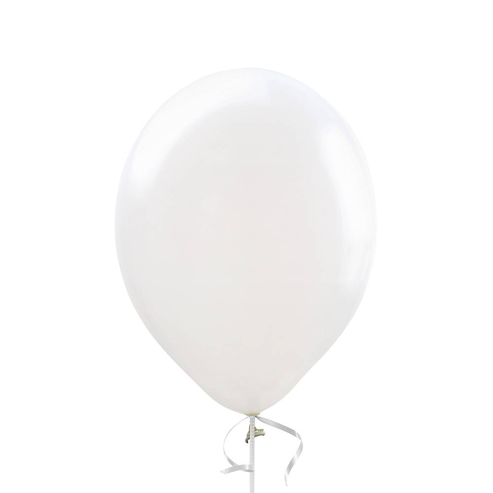 White Balloon, 12in, 1ct Image #1