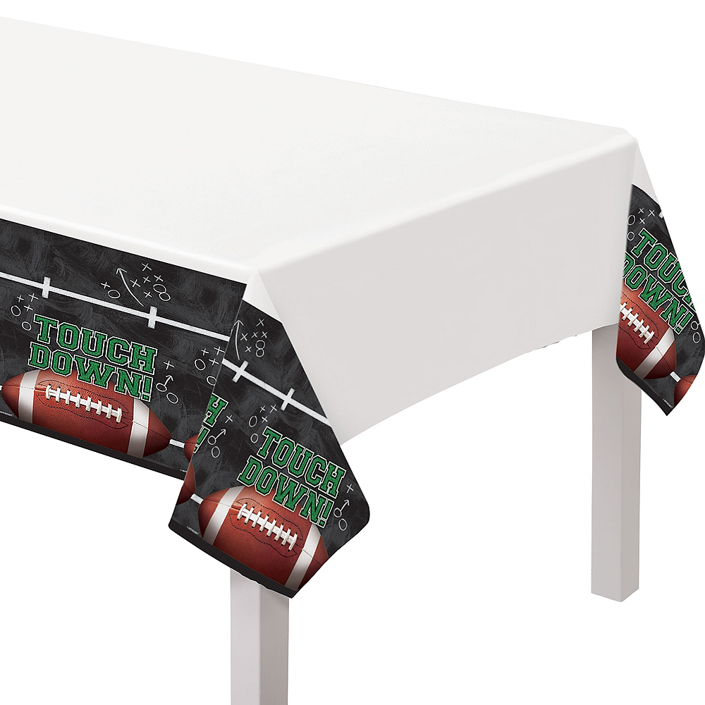 Tailgates & Touchdowns Plastic Table Covers, 54in x 84in, 3ct Image #1